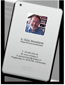 Visitekaartje Gijs Steenbeek