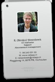 Visitekaartje Renko Steenbeek